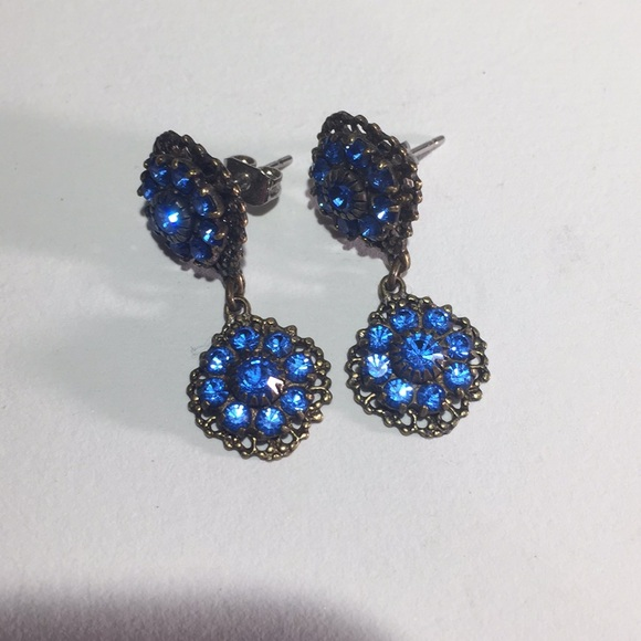 77 jewelry royal blue kenny ma earrings from c j s closet